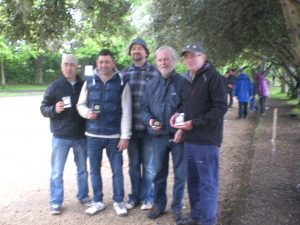 L - R Sylver & Franck Breteche, Owen Kelleher ( IPA ) George Davidson and Paul Trainor